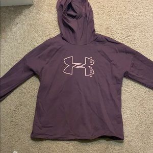 Purple under armor women's hoodie